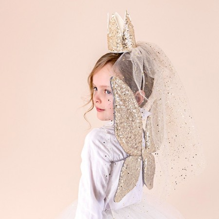 Sparkle Sequin Wings Gold