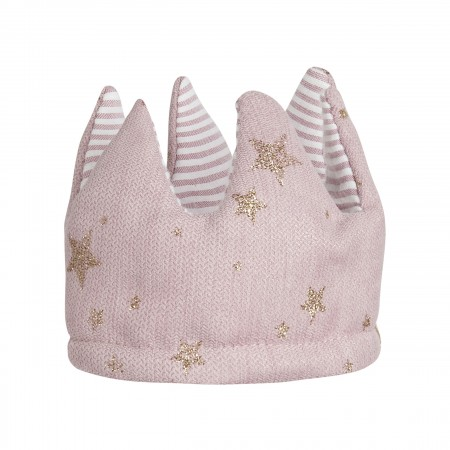 Fabric Reversible Crown Pink