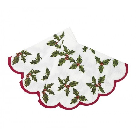 Botanical Christmas Scalloped