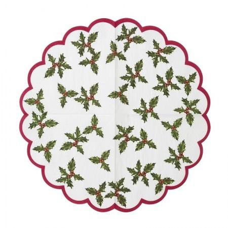 Botanical Christmas Scalloped