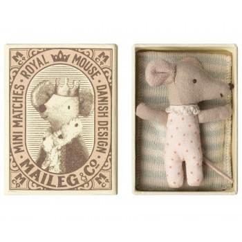 Muñeca ratoncita sleepy-wakey en caja