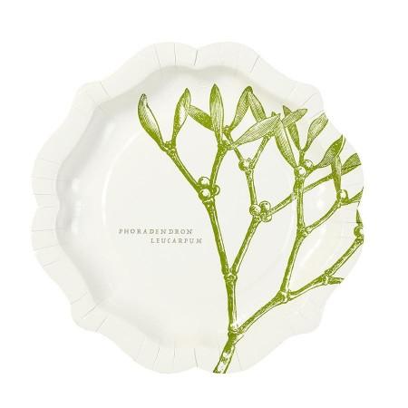 Botanical Chrismats plates  (12u.)