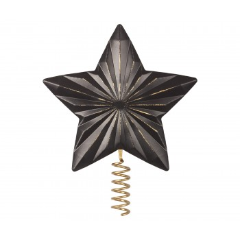 Star for Christmas tree, metal - Antracite