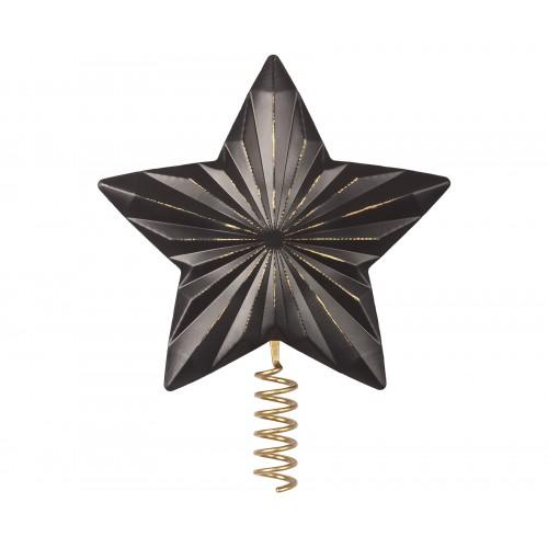 Estrella para el árbol de Navidad, metal - Antracita