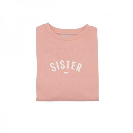 Sudadera Sister rosa empolvado talla 6