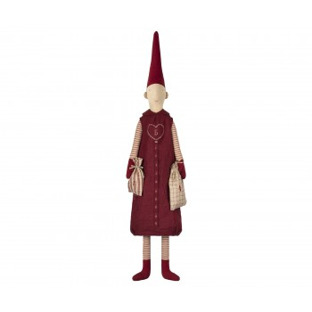 Pixy Elf girl red dress advent calendar