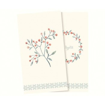 Servilletas de papel bayas de invierno