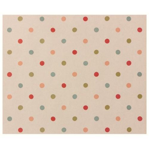 Papel de regalo, topos de colores (10 m.)