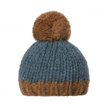 Best Friends knitted hat petrol/brown