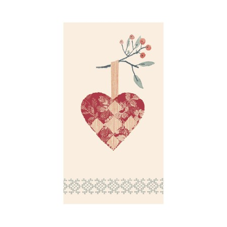Napkin, Christmas heart