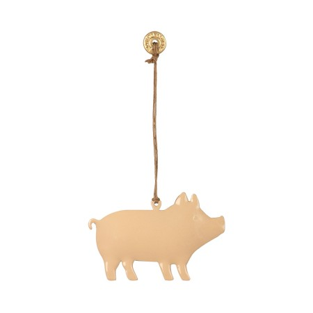 Cerdito metal decoración