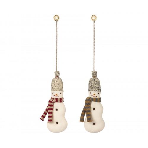 Snowman fabric ornament