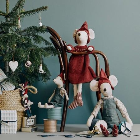 Muñeco de nieve tela decoración