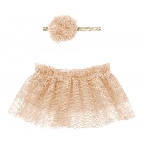 Tutú bailarina con diadema, rosa (Mini)