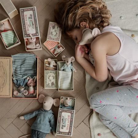 Muñeco ratoncita sleepy-wakey en caja