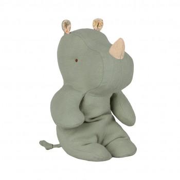 Peluche, pequeño rinoceronte, Verde grisáceo