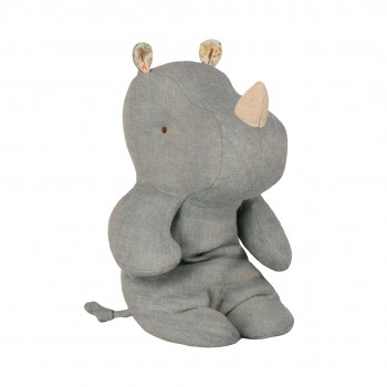 Peluche, pequeño rinoceronte, Azul grisáceo