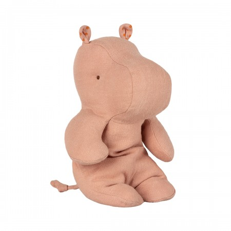 Peluche, pequeño hipopótamo, Rosa pálido