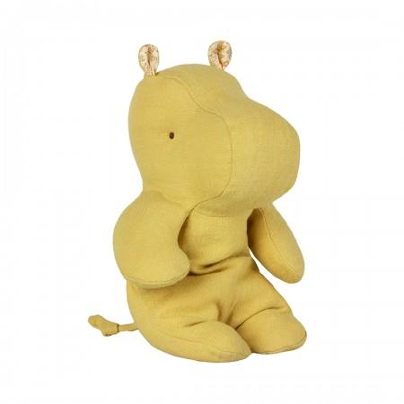Peluche, pequeño hipopótamo, Amarillo lima