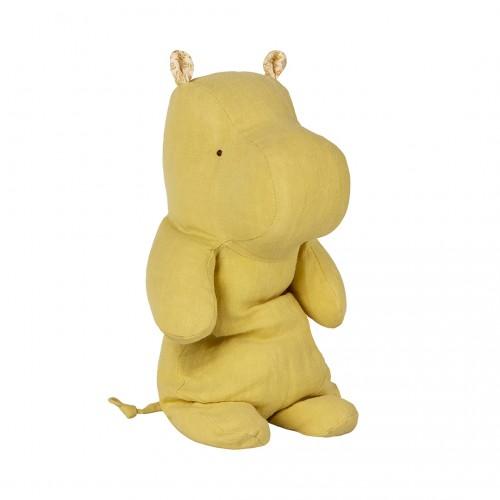 Peluche, medium hipopótamo, Amarillo lima