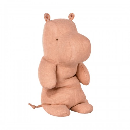 Peluche, medium hipopótamo, rosa pálido