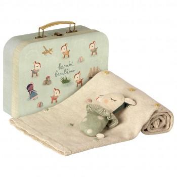 Set de Regalo para bebé en maleta (Menta)