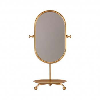 Table Mirror - Gold