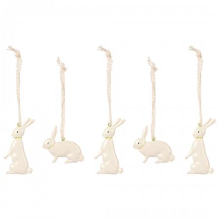 Metal bunnies, 5 pcs