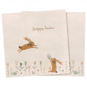 Servilletas de papel,  Happy Easter field