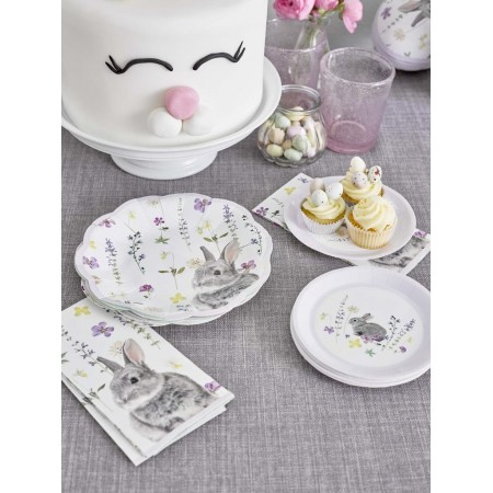 Platos de papel flor Bunny (12u.)