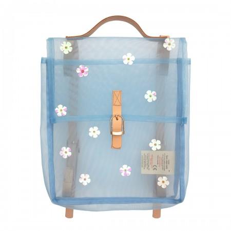 Sequin Flower Mesh Backpack