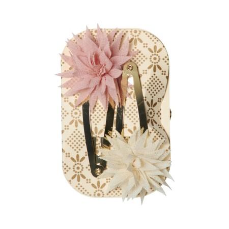 Caja de metal con accesorios para el pelo (rosa)