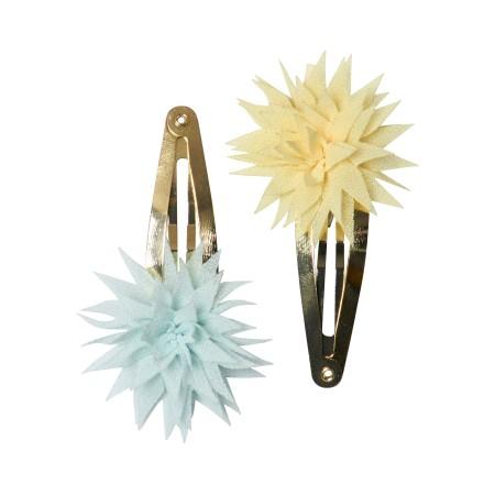 Caja de metal con accesorios para el pelo (azul)