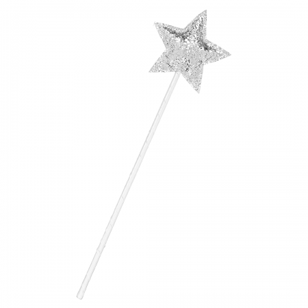 Glitter Star Wand-Silver
