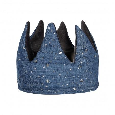 Corona gris/azul con estrellas plata,  reversible