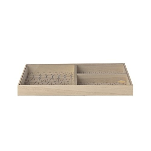 Storagebox w/Lid. Natue. Paulownia