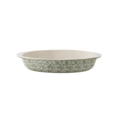 Seeke Serving Dish. Green. Storneware