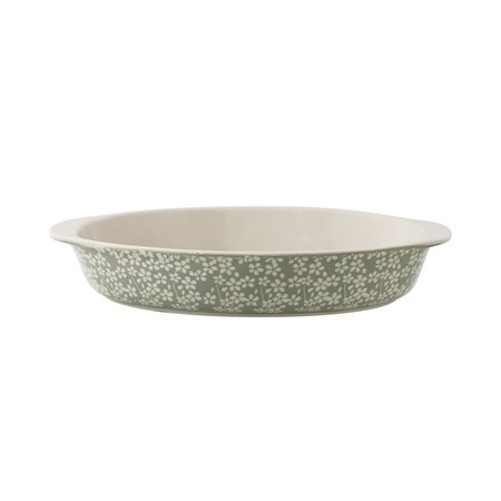 Seeke Serving Dish. Green. Storneware