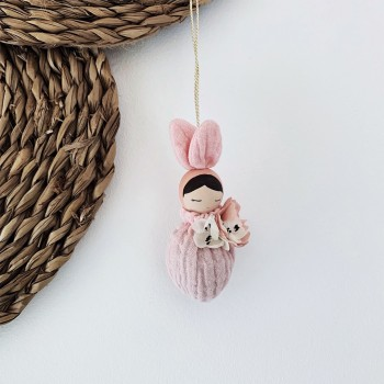 Necklace  Black Hair Bunny Fleur - Rose Sack