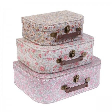 Grace floral suitcases set of 3 pcs