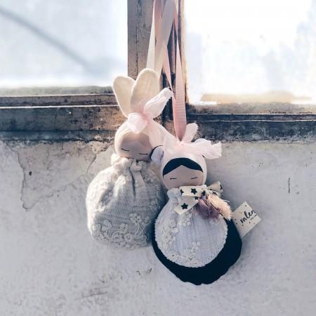 Muñeca  Panda - Saco Blanco y negro