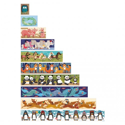 10 Pinguins Puzzle