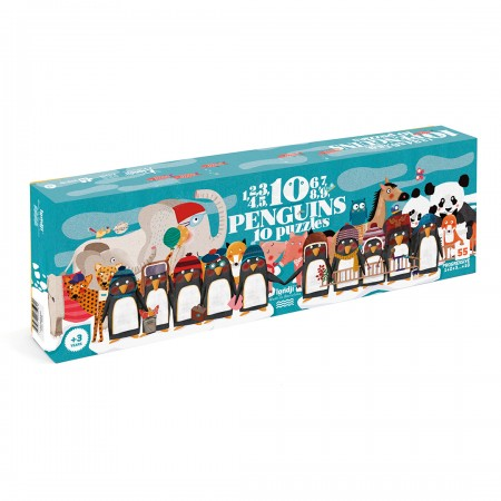 10 Pinguins Puzzle