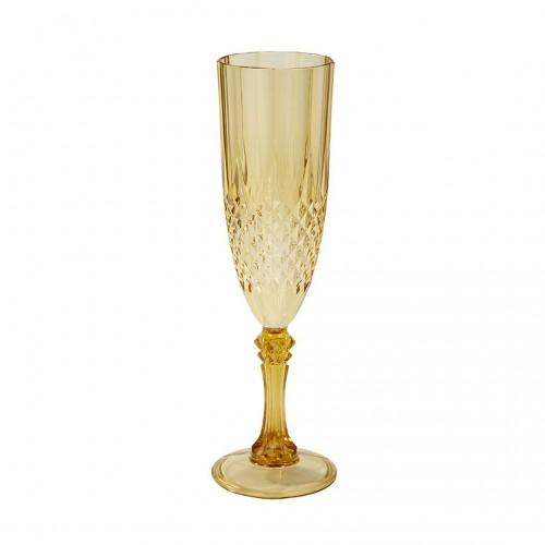 Gold champagne glass