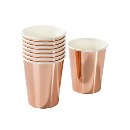 Rose gold foil cup (8u)