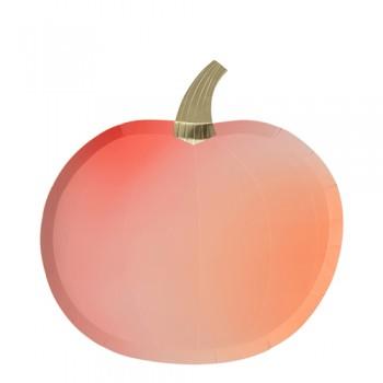Platos Halloween calabaza (8u.)