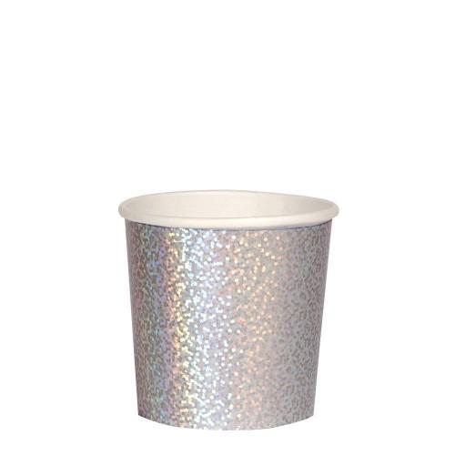 Silver Sparkle Tumbler Cups (8u)