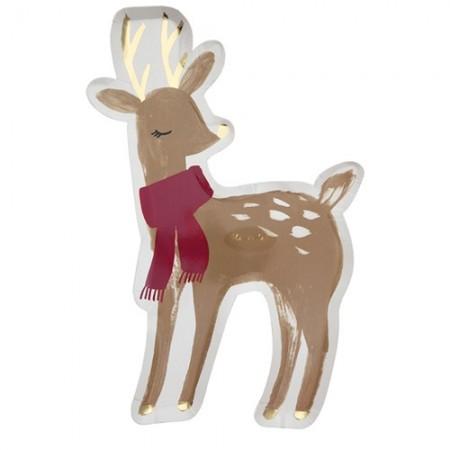 Woodland Deer Plates (8u)