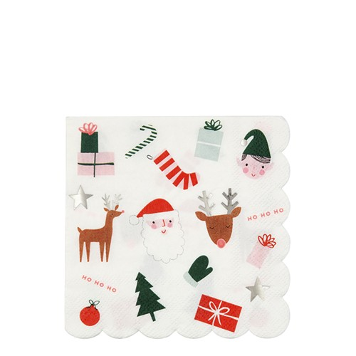 Christmas Icon Napkins Large (16u)