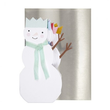 Rainbow Snowmen Concertina card